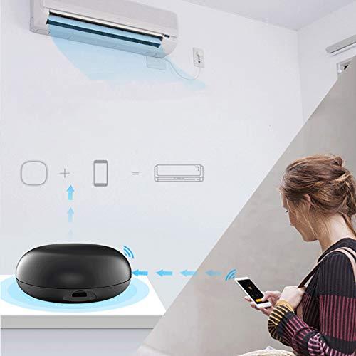Smart WiFi IR Remote Controller, Smart Home Universal Remote Controller, Control Remoto infrarrojo para Aire Acondicionado TV Fan STB, Compatible con Alexa Google Home