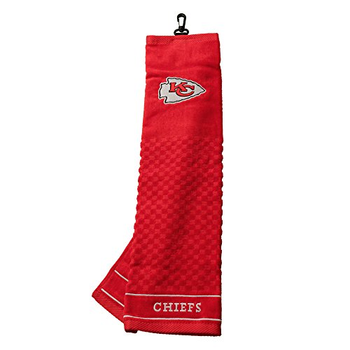 Team Golf NFL Kansas City Chiefs Embroidered Golf Towel, Checkered Scrubber Design, Embroidered Logo, Model:31410