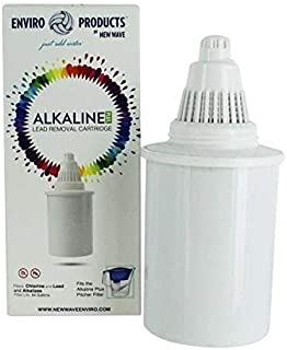 New Wave Enviro Alkaline Plus Lead Removal Water Filter Pitcher and Cartridges Multi 30046