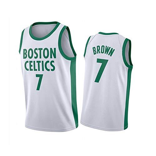 Jersey de Baloncesto 7# Celtics marrón, Nuevo Ventilador de Baloncesto para Hombre, Ropa Deportiva, Transpirable, Secado rápido, Antiarrugas White-S