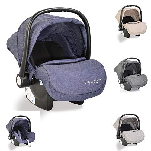 Moni silla de auto bebé Veyron grupo 0+ (0-13 kg) capota para el sol adaptador, color:azul