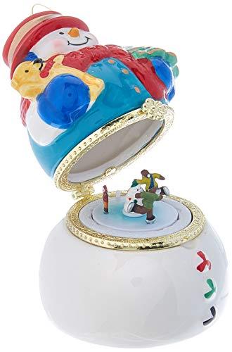 Mr. Christmas 18072 Porzellan-Spieluhr - Schneemann, Weihnachtsdekoration, One Size, mehrfarbig