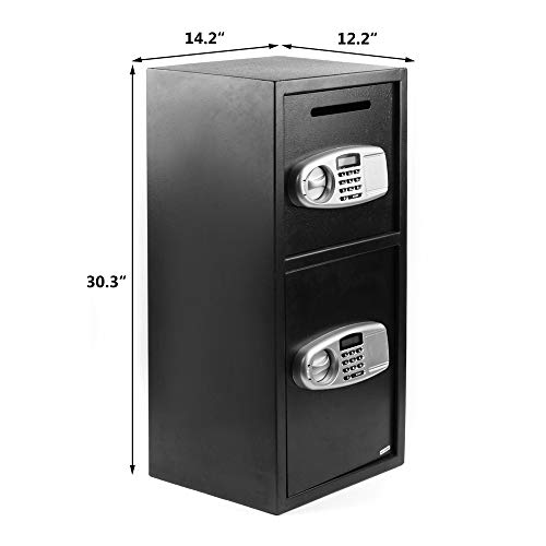 MTFY Digital Double Door Security Safe Box,Safe Box Security Lock Box with Keys Digital Safe Depository Drop Box Safes Home Office Security Lock for Cash Gun Jewelry Home Secure Photo #8