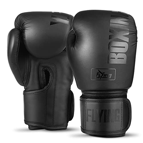 Boxing Gloves for Men and Women Suitable for Boxing Kickboxing Mixed Martial Arts Maui Thai MMA Heavy Bag Fighting Training Boxing Gloves for Men and Women (Black, 10oz)