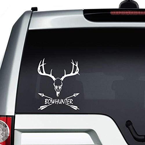 Bowhunter auto Sticker, herten schedel met gewei Vinyl auto Decal, Decor voor raam, Bumper, Laptop, muren, computer, thmbler, mok, kop, telefoon, Vrachtwagen, auto-accessoires