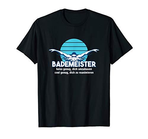 Bademeister Rettungsschwimmer Rettungsring Freibad Geschenk T-Shirt