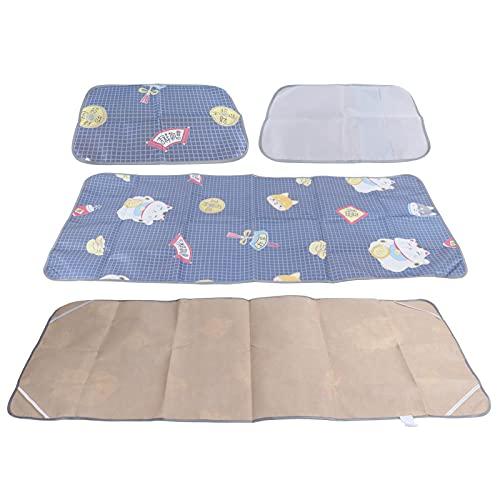 Tapete de Verano, cifrado y Engrosamiento Cool Mat Lavable y Plegable para el Dormitorio del hogar para bebés, niños pequeños, Mujeres y Ancianos(80 * 195cm (1 Seat + 1 Pillowcase))