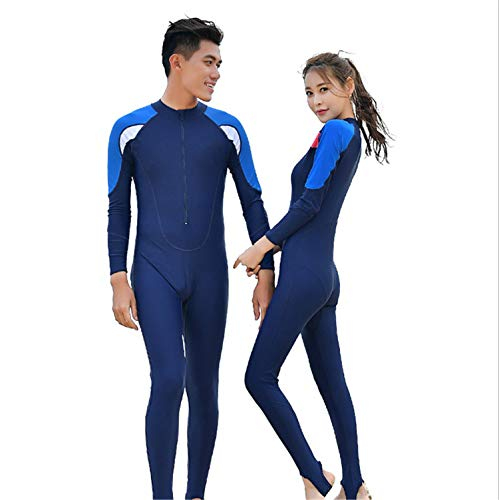 UNIQUE-F La Sra. Traje de Buceo Traje de baño de protección Solar para Hombres Medusas Pareja Snorkel Pantalones de Manga Larga de Secado rápido Traje de Neopreno