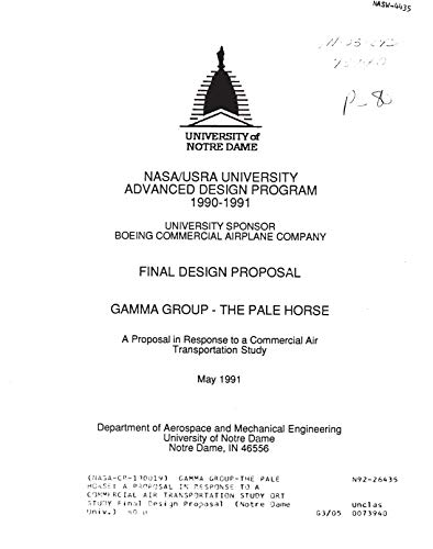 Gamma Group-The Pale Horse: A proposal in response to a commercial air transportation study ort study (English Edition)