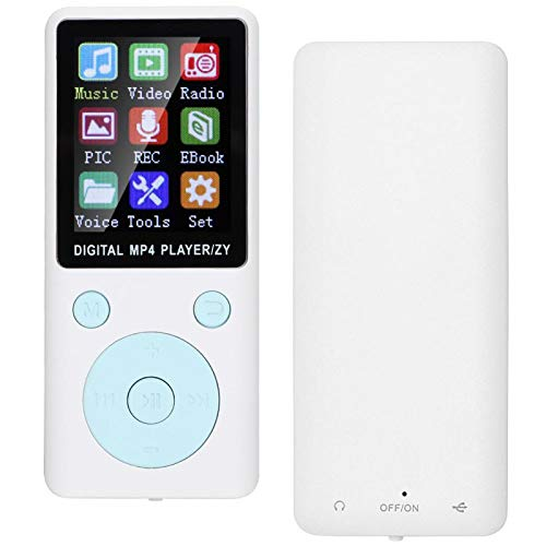 旅行用の調整可能なMP4多言語プレーヤー学生MP3音楽ポータブルBluetooth大容量(white)