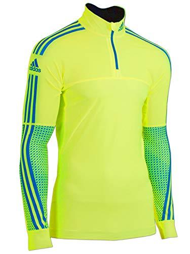 adidas Herren Race Oberteil XC Top Langlauf Running Skisport (gelb-blau, D7 (52) L)