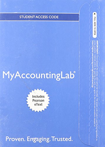 NEW MyAccountingLab with EText - Component Access Card (1-Semester Access)