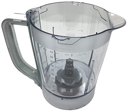 Ninja 40oz Pitcher Bowl for BL200 BL201 BL205 BL206 BL207 Kitchen System Pulse Blender, White