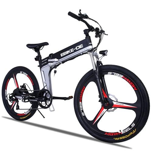 Vivi Bicicleta Eléctrica Plegable para Adultos,Bici Electrica Montaña de 26 Pulgadas,Bicicleta Electrica Urbana E-Bike,250W 36V/8Ah Batería Extraíble,Velocidad máxima 25 km/h (7-Velocidades)