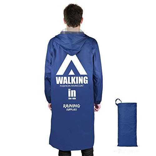 Lichtgewicht draagbare regenjas uit één stuk voor heren en dames, lange nylon regenjas met bedrukking voor volwassenen, geschikt voor wandelen, reizen, klimmen