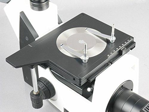 AmScope ME1200T 50X-500X Inverted Trinocular Metallurgical Microscope