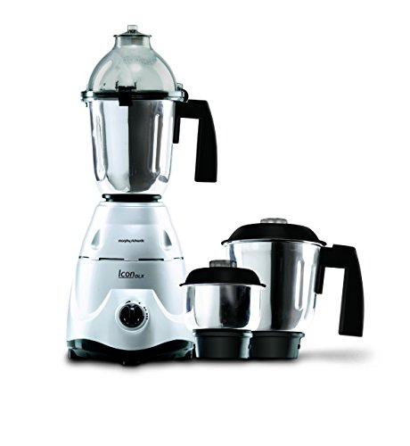 Morphy Richards Icon DLX 750-Watt Mixer Grinder (Silver)