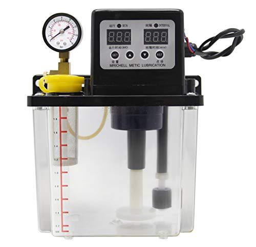 Newtry Automatisches Schmierölpumpe, digital, numerische Steuerung, Schmiermittel, Pumpe, CNC, elektromagnetisch, Schmierpumpe, 1,8 l