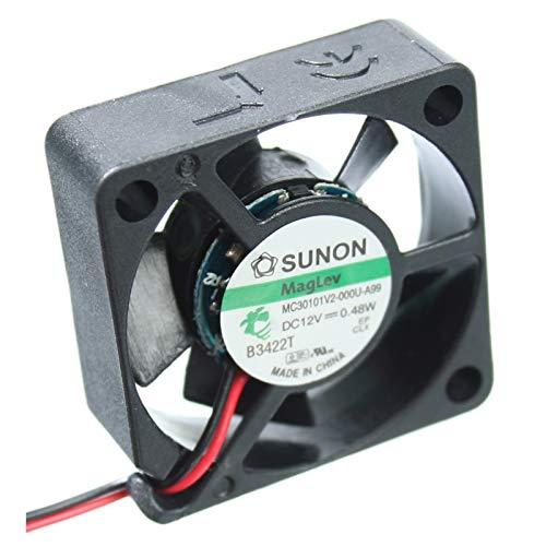 kessler-electronic MF30101V2-1000U-A99 SUNON-Lüfter 30x30x10mm 12V= 7,81m³/h 20dBA 8600U/min. +DATENBLATT als QR-Code