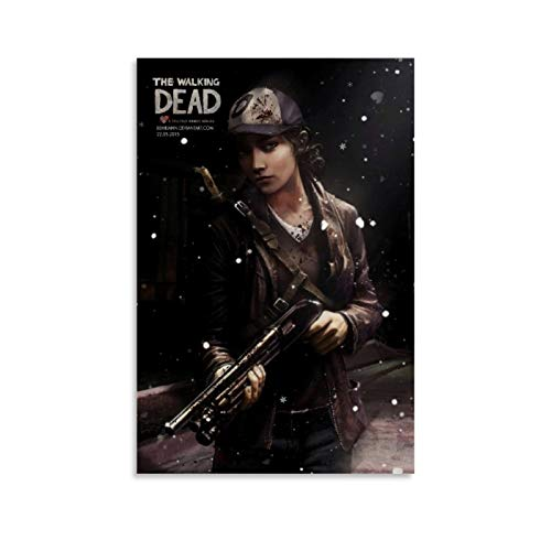 Qiguai The Walking Dead The Final Season Video Game Clementine 2 Poster Decorative Painting Canvas Wall Art Living Room Posters Bedroom Painting 12x18inch(30x45cm)