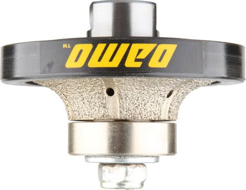 DAMO 1/2 inch Demi Bullnose Half Bullnose Roundover Coarse Diamond Hand Profiler Router Bit Profile Wheel with 5/8-11 Thread for Granite Concrete Marble Countertop Edge