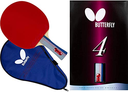 Butterfly 401 Table Tennis Racket Set - 1 Ping Pong Paddle – 1 Ping Pong Paddle Case - ITTF...