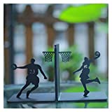 1yess Bookends Creative Basketball Bookends Bookends Reserva Frente para el hogar Sookends Hookends Childrens Room Gift (Color: Negro B) (Color : Black E)