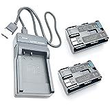 F-MINGNIAN-SPRING Cámaras de Viaje LCD USB Kit de Cargador de batería rápido Reemplazo Compatible con Canon para PowerShot Pro 1, para PowerShot Pro 90 es Accesorios para cámaras Digitales