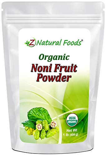 Organic Noni Fruit Powder - Queen of Health Plants Superfood Supplement - Mix in Juice, Drinks, Shakes, Smoothies, Recipes - Raw, Vegan, Non-GMO - 1 lb