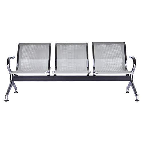 Kintness Reception Chair Waiting Room Chair Furniture Lobby Chair Bench 3-Seat for Reception Room, Office, Airport Business, Bank, Hospital