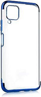 Zore Huawei P40 Lite Dört Köşeli Lazer Mavi Cep Telefonu Kılıfı