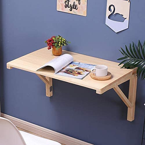 Amazon Com Liting Folding Table Heavy Duty Solid Wood Wall Mounted Folding Table Garage Laundry Room Bedroom Kitchen Office Work Table Dining Table Computer Table Wall Mounted Table Folding Table Load 40 60kg Home