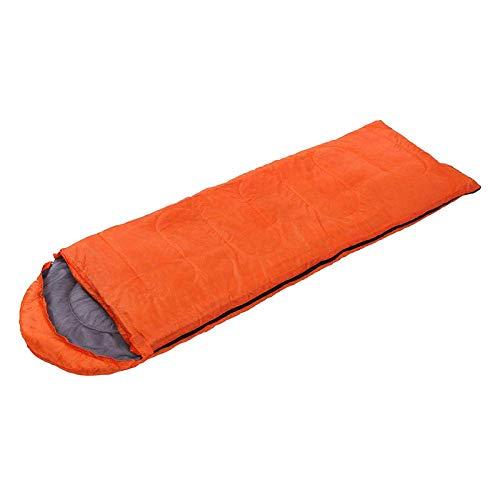 Pkfinrd Outdoor-slaapzak voor volwassenen, warme camping-lunchpauze, slaapzak voor volwassenen, indoorslaapzak, duurzaam @ Orange