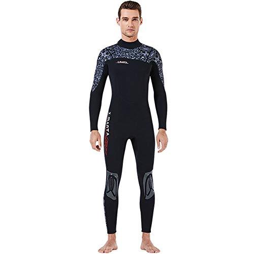 Muta da uomo in neoprene da 3 mm, a maniche lunghe, per immersioni subacquee, per pesca subacquea, snorkeling, surf, B, S