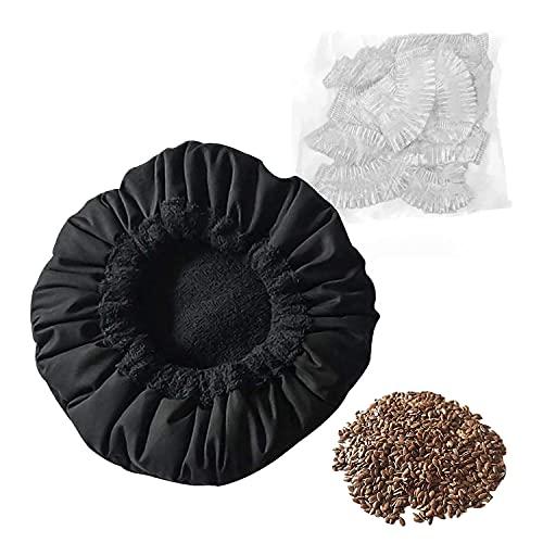 MQUPIN, cuffia termica per la cura dei capelli, con 10 cappucci usa e getta per la cura dei capelli, colore: nero