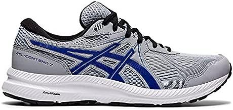 ASICS Men's Gel-Contend 7 Running Shoes, 11.5, Piedmont Grey/ASICS Blue