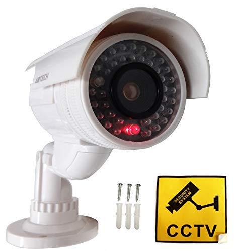 4X Professionelle Überwachungskameras Dummy Kameras Kameraatrappe Outdoor blinkend Videoüberwachung