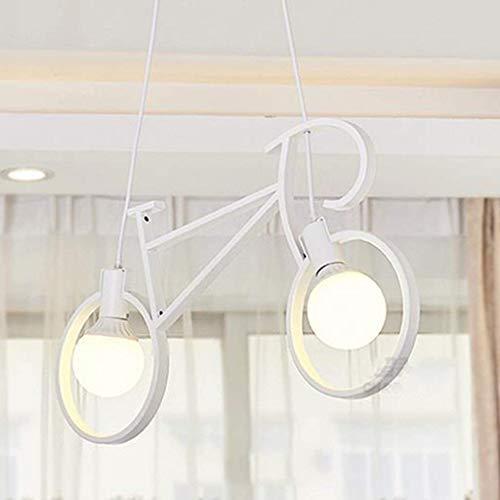 MARK die Beleuchtung Kronleuchter Fahrrad, Nordic Irons Chandelier Restaurant Lounge Bar die Schlafzimmer der Hellen Innenbeleuchtung,Weiß-weißes Licht