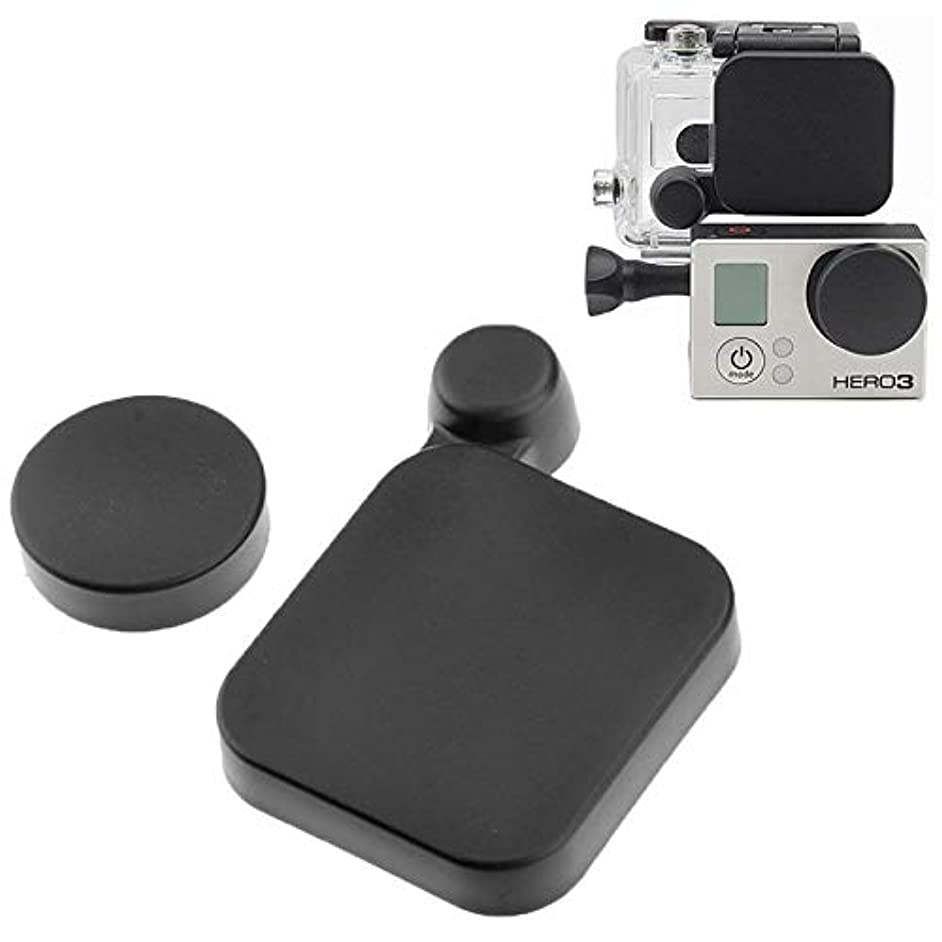 for DJI Gopro Action Camera, ST-77 Protective Camera Lens Cap Cover + Housing Case Cover for GoPro HD HERO3(Black)