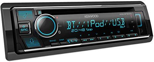 Kenwood KDC-BT640U - Radio para Coche con Reproductor de CD y Bluetooth (sintonizador de Alto Rendimiento, procesador de Sonido, USB, AUX, Control de Spotify, 4 x 50 W, iluminación Variable)