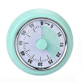 Sweetfamily Kitchen Timer, Visual Analog Timer,Countdown Clock for Kids and Adults,Time Management Tool for Teaching Meeting Cooking(Blue)