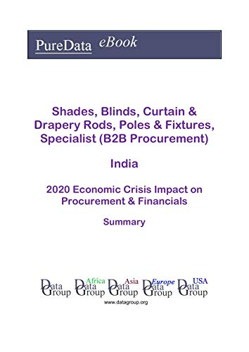Shades, Blinds, Curtain & Drapery Rods, Poles & Fixtures, Specialist (B2B Procurement) India Summary: 2020 Economic Crisis Impact on Revenues & Financials (English Edition)