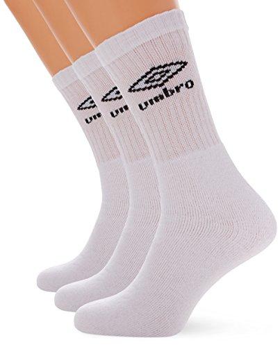 UMBRO 64009u-002–3er-Pack Socken, Weiß L weiß