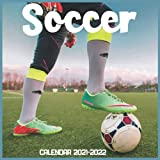 Soccer Calendar 2021-2022: April 2021 Through December 2022 Square Photo Book Monthly Planner Soccer small calendar