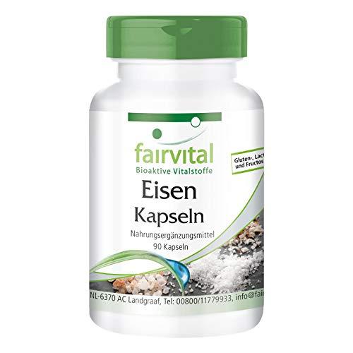 Ijzer capsules mit vitamine C, biotine en B12 - VEGAN - 90 capsules