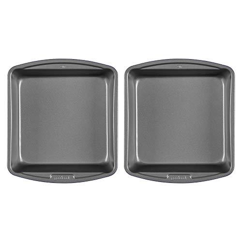 Goodcook 2pk 8x8 Set Baking Pan, 2 Pack, Gray