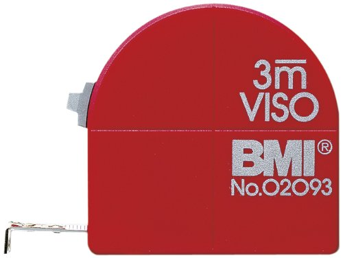 Preisvergleich Produktbild BMI 405341010 Taschenbandmaß Viso mit Innenmessung und Zirkelfunktion,  Länge 3 m,  weisslackiertes Band