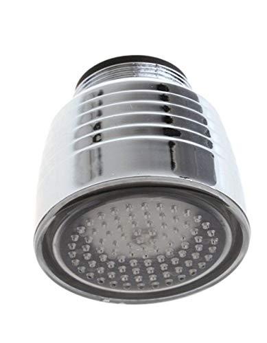 3 modos, latón, ahorro de agua, grifo, aireador, boquilla rociadora, difusor giratorio de 360 grados, extensor de grifo, aireador flexible, A, como se muestra
