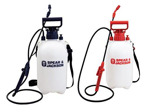 Spear & Jackson 5Lpapstwin Pulverizadores con acción de Bombeo a presión, Pack Doble de 5 litros, 17.5x14x7.5 cm