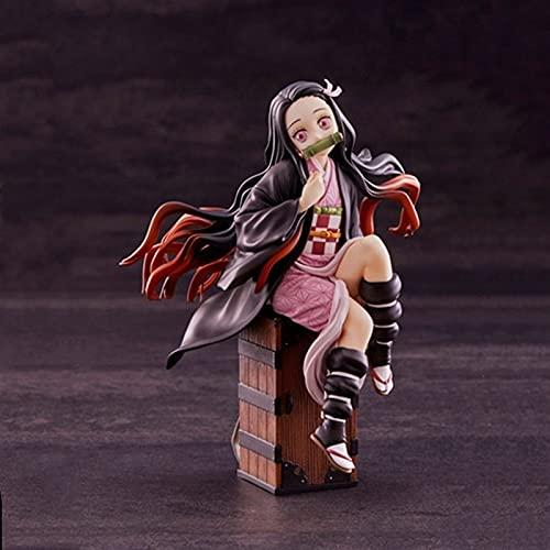 Liiokiy Anime Figure Demon Slayer Kamado Nezuko 1/8 en el cuadro Figura de acción Modelo Hecho A Mano Animación Personaje de Animación Modelo Arte Estatuas Juegos Anime Decoración Arte Regalo Collecti